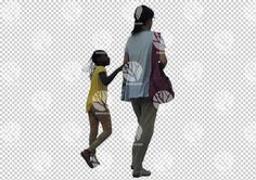 Woman with kid cutout for 27.8.2016 by Gobotree