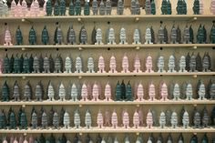 Brighten up your home or garden this summer with these pastel gnomes provided to us by Tiger. Over gnomes featured as part of a café feature at Grand Designs Live London See them again in Birmingham this October. Grand Designs Live, Gnomes, Birmingham, Wine Rack, October, Pastel, Gardens, London, Summer