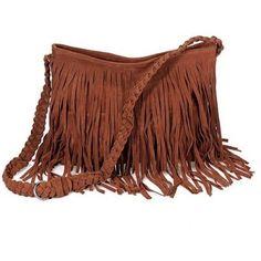 Fringe // Faux Suede Handbag Huge bag with lots of storage and pockets inside // String Quality // Shoulder Bag // Cross Bag // Brown Large Purse // Adjustable Strap // Strong zipper for closure // Braided Details Bags