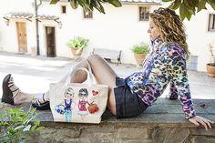 Una minigonna jeans ed un giubbotto maculato per un pomeriggio in fattoria - http://www.2fashionsisters.com/minigonna-jeans-giubbotto-maculato/ - 2 Fashion Sisters Fashion Blog - #FattoriaDiMaiano, #Fibrae, #Guess, #Jijil, #MinigonnaJeans
