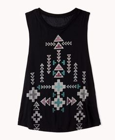 Tribal Print Muscle Tee | FOREVER 21 - 2062779542