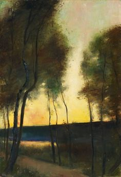 Autumn mood on Grunewaldsee, Lesser Ury. Germany (1861 - 1931)  Source: poboh
