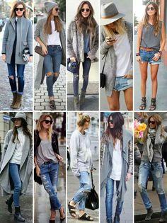 Cinza e jeans