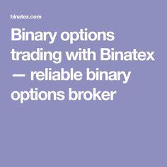 Binary options trading with Binatex — reliable binary options broker
