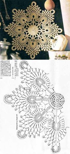 51 Ideas knitting charts snowflake free pattern for 2019 Crochet Doily Diagram, Crochet Doily Patterns, Crochet Chart, Crochet Squares, Thread Crochet, Crochet Designs, Crochet Doilies, Crochet Flowers, Crochet Lace
