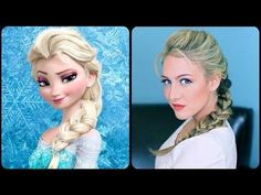 We love the characters in the animated film Frozen. We also love the hairstyles Queen Elsa wears. Disney Hairstyles, Summer Hairstyles, Prom Hairstyles, Hairdos, Braided Bun Hairstyles, Braided Ponytail, Braided Buns, Braid Hair, Updo Hairstyle