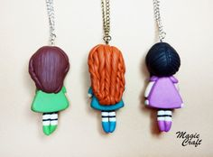 Gorgeous Doll Necklace Polymer Clay par MagieCraft sur Etsy