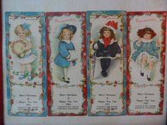 4 Old 1903 Christmas Bookmarks - CAWLEYS DRY GOODS - SHENNON COLORADO in | eBay