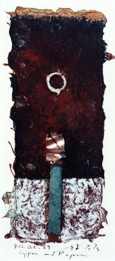 D-22.Oct.1989copper and paper making collage 林孝彦 HAYASHI Takahiko 1989