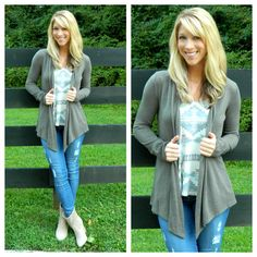 We love fall and all the clothes that come with it! Get this look at www.southernorangeboutique.com