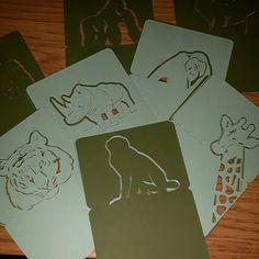Cool animal place names khaki and mint green! Off to the states! #jld #international #etsy #etsygifts #green #mint #new #order #placenames #weddingdecor #wedding #weddingstationery #monkey #giraffe #rhino #tiger #gorilla #ape
