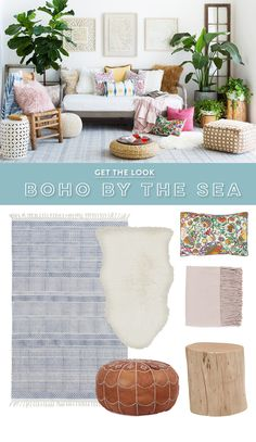 A soft, beachy palette and the warmest living room - perfect for summer.