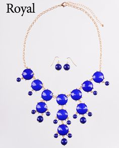 Faceted Bubble Necklace & Earring Set