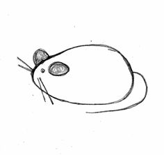 how to draw a cute mouse easy