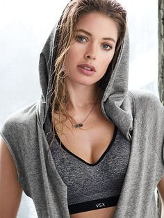 sports bra with hoodie editorial image