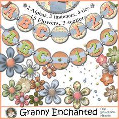 """Sha-Zing"" digital scrapbook Alphabet Pack CU/PU/S4H flowers"
