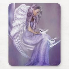 Angel Pictures, Art Pictures, Angels Beauty, I Believe In Angels, White Wings, New Employee, Custom Mouse Pads, Angel Art, Looks Great
