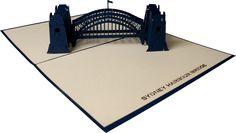 3D SYDNEY HARBOUR BRIDGE #3dcards #cards #3d #sydney #harbour #bridge www.3dcards.com.au