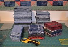 Tips on making a quilt from old jeans. recycle jeans, memory quilts, old shirts, diy home, denim quilts, quilt tutorials, old jeans, lap quilts, jean quilts
