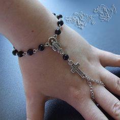 Rosary Slave Bracelet Gothic Hand Jewelry