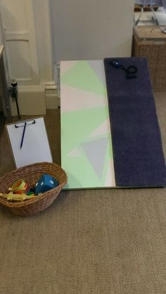 Science area for Walker Learning Investigations Program. Use of a homemade ramp to explore how different objects move (linked to ACARA Science curriculum- Foundation)
