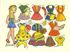 "Spanish: TERESITA {Julia Struth) - Recortes Azucena – Editorial Roma 1950 English:  TERESITA [Greek, meaning ""late summer""] {Julia Struth) - Azucena Cutouts/Paper Dolls - Editorial Rome 1950"