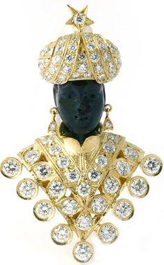 El Moretto de Grace Kelly Oro amarillo y diamantes La casa Nardi lo edita como modelo Grace
