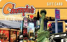 November 2 - December 31, 2013 Get FREE $10 Gift Card with Purchase of $50 in Chompie's Gift Cards* http://www.chompie's.com   CLICK HERE to purchase gift cards