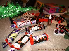 Easy Halloween Treat Tubes Tutorial and other nifty ideas.