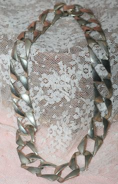 Large Silver Chain Necklace by FunkyBsFinds on Etsy, $5.00