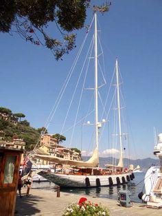 Beautiful old yacht, Portofino.
