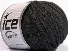 Limited Edition Fall-Winter Yarns Kışlık Yün Worsted Zincir Koyu Gri  İçerik 50% Yün 50% Akrilik Brand Ice Yarns Dark Grey fnt2-51472