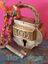 Ancien Cadenas Laiton 70g 5x4,5x1,5cm Rajasthan Artisanat Inde