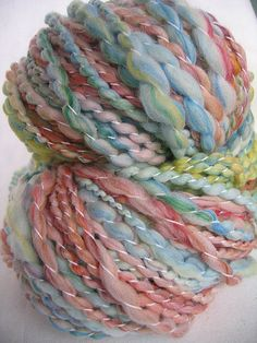 """Enchanted Yarn on Etsy: It's called """"Rag Doll,"""" but it looks like cotton candy."""