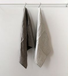 Fog Linen Tea Towel   Waffle   Grey or Natural