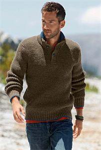 643f76f03c8943 Bergere de France Mens Knitting Patterns Button Neck Sweater Pattern  Knitting Patterns Uk