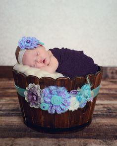 Maternity sash with matching headband