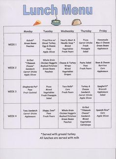 blank daycare menu template - preschool curriculum preschool 39 s snack menu design
