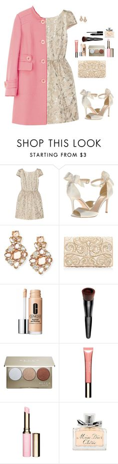 """""""A Party fit for a Princess"""" by sc-prep-girl ❤ liked on Polyvore featuring Alice + Olivia, Kate Spade, Forever New, Clinique, Bare Escentuals, Becca, Clarins, Christian Dior and Lord & Berry"""