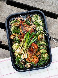 Piparkakkutalon akka,  ruoka- ja leivontablogi: Tomaattimarinoitua broileria grillistä