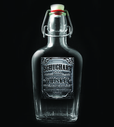 Custom Name Whiskey Label Glass Flask by Crystal Imagery  on Scoutmob Shoppe