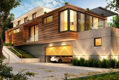 Modern architecture sporting a Wood Strip Siding