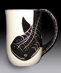 Carrie S. would love this! Whale Shark Mug by rhoneypots on Etsy, $39.00