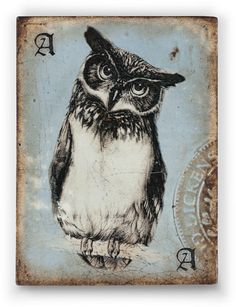 "Wisdom ""Your brilliance lights the path through the dark woods of the world."" I love this owl tile from Sid's new collection. I can't wait to get it."