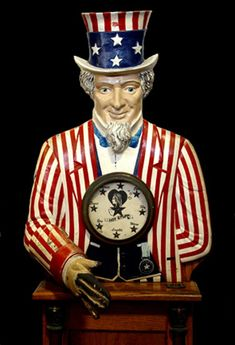 Arcade Uncle Sam from The Zelinsky Collection at the Musée Mécanique in San Francisco. Photo by Cathy Lynch.