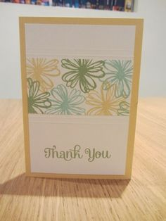 Flower Shop thank you card by Caroline Wright