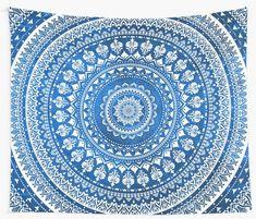 'Mandala Blue' Tapestry by Echolite Blue Tapestry, Wall Tapestry, Dorm Walls, Iphone Wallet, Floor Pillows, Beach Mat, Mandala, Outdoor Blanket, Wall Decor