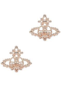 Vivienne Westwood rose gold tone stud earrings