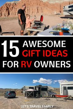 Check out our top RV owner gift ideas for your RVing friend or family member. From unique RV camper ideas to small stocking stuffers or birthday gift ideas, we have you covered. Camping With Kids, Family Camping, Rv Camping, Travel With Kids, Family Travel, Camping Hacks, Glamping, Gifts For Rv Owners, Rv Gifts
