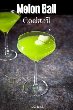 Transport back to the 80's when you mix and enjoy this melon ball cocktail. It's pretty, delicious and only has three ingredients!